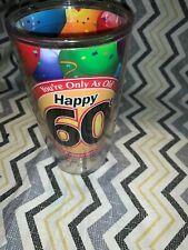"Tervis Tumbler HAPPY 60th BIRTHDAY 6"" Plastic Cup"