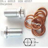 Ölablassschraube/Jeep/Mercedes/Smart/Chrysler M14x1,5+3 Dichtringe#60557(#60513)
