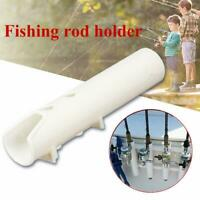 Boat Plastic Rod Holder 2 Tube Fishing Plastic Rod Holder White Specially R J5X0