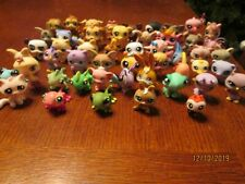 Large lot of 50 LITTLEST PET SHOP Animals Cats Dogs Frogs Fish Birds & MORE EUC