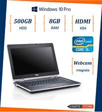 pc portatile notebook usato ricondizionato 14 pollici 8GB HDD 500 Dell E6430 i5
