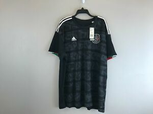 Men's Adidas Mexico Home Jersey Short Sleeve Regular Fit -Size 3XL- Black/White