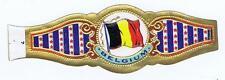 Belgium   Flags World old cigar band vitolas Bauchbinden Sigarenbandje 34