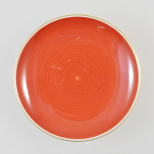 KPM Saucer - Small Plate - Old - Red - Porcelain - Sceptre - 4 1/8in - 2.7oz