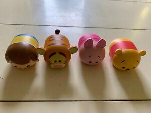 Disney Tsum Tsum Vinyl Lot Winnie the Pooh Tigger Piglet and Christopher Robin