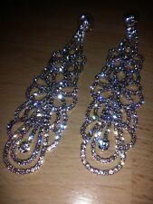 Bridal diamante earrings, costume jewellery, wedding, evening wear, fancy dress