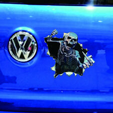 Funny Skull Graphic Car Sticker Vinyl Wrap Decal Skeleton Waterproof Reflective