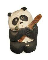 "Artesania Rinconada Panda Bear Figurine Bamboo Vintage 1985 Uruguay Retired 3.5"""