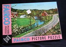 Fairco Vtg jigsaw puzzle Sealed Around the bend 350 pieces farm Scene 13 x 18.5