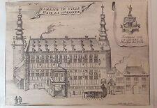 GERMANY/ ALEMANIA.La Maison de la Ville d'Aix la Chapelle,  d'Harrewyn, 1711.