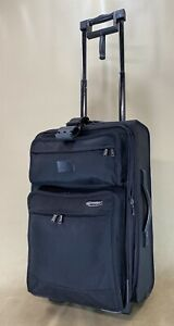 """Travelpro Platinum 3 Rollaboard 22"""" Wheeled Expandable Carry On Suitcase Black"""