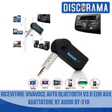 RICEVITORE VIVAVOCE AUTO BLUETOOTH V3.0 EDR AUX ADATTATORE BT AUDIO BT-310