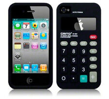 Calculator Novelty Design iPhone 4/4s Silicone Case - BLACK