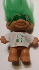 "Vintage Troll Doll 3"" Russ St. Patrick's Day "" 100% Irish "" with Glasses"