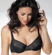 4c23da9f03053 Playtex Expert in Silhouette Black Lace Bra UK34B UK38DD Wired Non Padded  4221