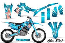 HONDA CRF 450 CRF450 2013-2015 GRAPHICS KIT CREATORX DECALS YOU ROCK BLUE ICE NP