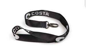Costa Del Mar Lanyard, Black/White