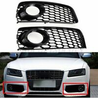 Honeycomb Bumper Fog Light Grill Grille Trim For Audi A5 S-Line S5 B8 RS5 08-12