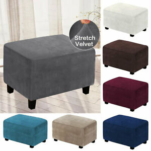 Stretch Elastic Rectangle Slipcover Sofa Pedal Foot Stool Cover Dust Protector