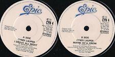DISCO 45 GIRI   Cyndi Lauper - I Drove All Night / Maybe He'll Know