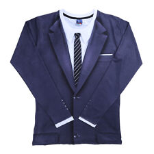 Men Slim Fit Suit Coat Jacket Tops Casual Design Long Sleeve T-shirt Tee  Blouse