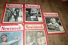 5  US Magazine of New Significance Newsweek 1946/47 James Stewart/Toy Boom uvm