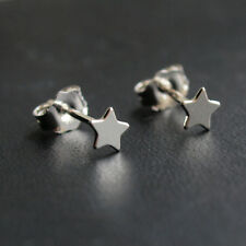 Sterling Silver Star Stud Earrings Dainty Small 925 Ear Posts Gift for Her