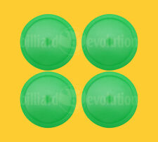 "Set of 4 Large Air Hockey Pucks - Green Round Pucks 3-1/4"" Diameter-Table Hockey"