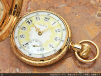 ELGIN Father Time 14K Pocket Watch Manual Winding 21Jewels 54mm 1906