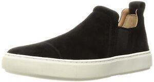 NIB Vince Men's Lucio Suede Sneaker Black Suede Leather  7 M-US