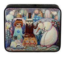 Beautiful Russian Lacquer Box ALICE in WONDERLAND #4110