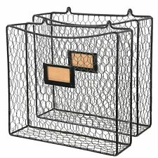 Wall35 Cestino Magazine And File Wire Basket Set Of 2 Black