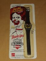 VINTAGE 1984 OFFICIAL RONALD MCDONALD WATCH UNUSED NOS