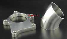 """T3 T3/T4 (5 Bolts) Turbo Downpipe FLANGE 2.5"""" OD Stainless Steel + 45º SS Elbow"""