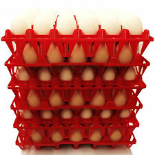 12 RITE FARM PRODUCTS 30 EGG POLY CHICKEN TRAYS SHIPPING CARTON POULTRY FLAT