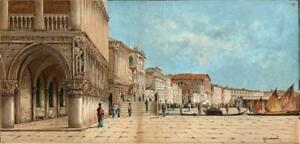 G ONDRIACHIANI Watercolour Painting LANDSCAPE AT VENICE ITALY - 20TH CENTURY