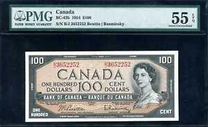 Canada 1954 $100 BC-43b One Hundred Dollars AU 55 EPQ PMG 1056155-002