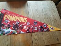 Super Bowl 54 Champions Kansas City Chiefs 17x40 Player Premium Pennant