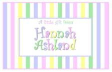 Pastel Stripes Enclosure Cards~Gift Tags~Personalized