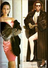 1987 McComber Furs Fur American Ultra Awards Gail Elliott Print Ad Vintage 80s