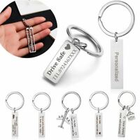 Key Rings Driver Safe Trucker I Love You & Drive Safe Stainless Steel Keychain