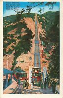 Postcard Great Incline Mt Lowe California