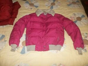 Reversible Coat Vintage USA Made Gerry Goose Down Parka Puffer Jacket Pink READ