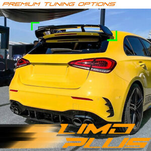 Gloss Black AMG Style Rear Roof Spoiler for Mercedes-Benz A Class W177 A45 A35