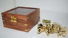 Nautical Brass Sextant 4 Inches Polish Brass Sextant with Wooden Box