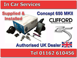 Clifford Concept 650 MkIII Car Alarm Immobiliser Thatcham Cat 1 FITTED LEICESTER