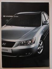 HYUNDAI SONATA orig 2007 UK Mkt Sales Brochure