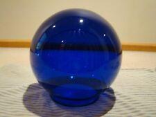 """EXQUISITE VICTORIAN COBALT BLUE 10"""" BALL GLASS LIGHT SHADE GLOBE LAMP/NEWEL POST"""
