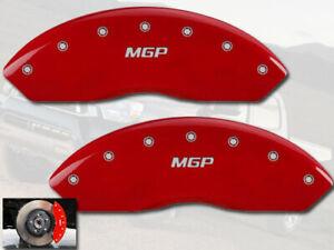 2020 Toyota Tacoma TRD Sport Front Red MGP Brake Disc Caliper Covers 2pc Set