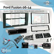 CTKFD21 Ford Fusion 06-14 Double Din Car Stereo Fitting Kit stalk control BLACK